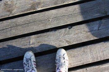 my feet in salt pan bridge