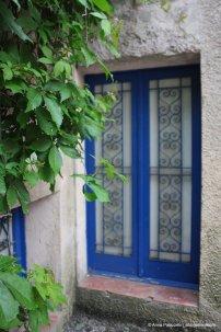 Blue window in Erice Sicily